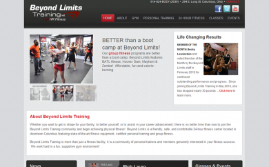 Beyond Limits Training Website Screenshot