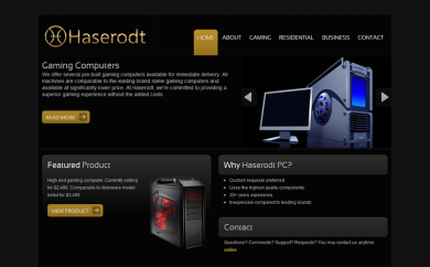 Haserodt PC Website Screenshot