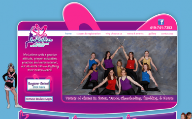 Hearts in Motion Website Screenshot
