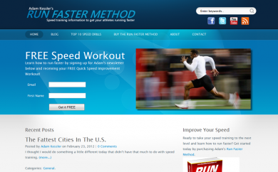 How to Run Faster Now Website Screenshot
