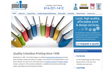 Printed Image Website Screenshot