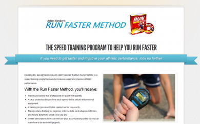 Run Faster Method Website Screenshot
